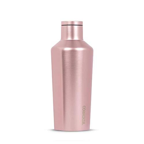 Corkcicle - Botella aislante (264 ml, acero inoxidable, acabado metalizado), color rosa