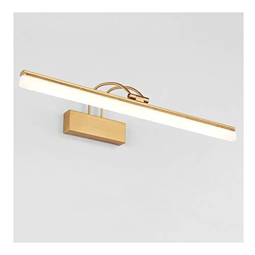 Lámpara Luces de la vanidad del baño Lámpara giratoria llevada del dormitorio del vestidor del espejo giratorio A prueba de humedad todo el bronce Luces de baño (Color : B)