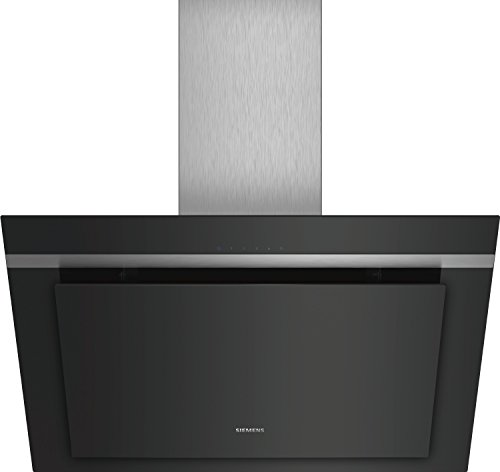 Hotte decorative murale Siemens LC87KHM60 - Hotte aspirante Pan incliné - largeur 79 cm - Débit d'air maximum (en m3/h) : 700 - Niveau sonore Décibel mini. / maxi. (en dBA) :  48 / 65
