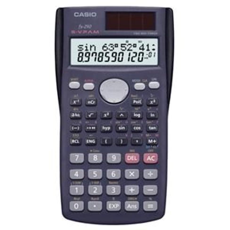 家族サイレント逆さまに(まとめ) カシオ CASIO 関数電卓 10桁2行 ハードケース付き fx-290-N 1台 【×3セット】