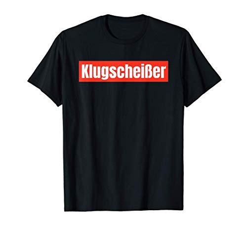 Herren Klugscheißer Klugscheißerin Besserwisser Neunmalklug T-Shirt