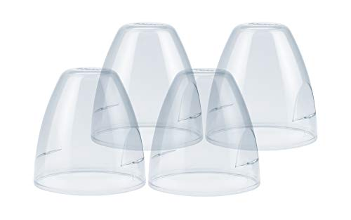 NUK Staubkappen für First Choice Flaschen | Ersatzartikel | Polypropylen und transparent | 4 Stück