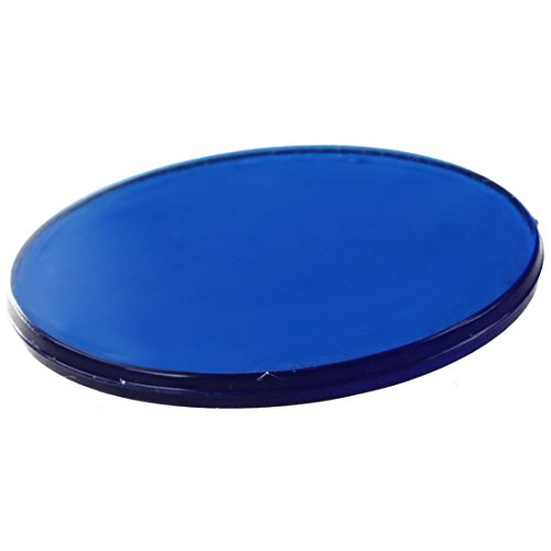 SODIAL Environ.100Pcs 3/4 Pouces Chips de Bingo en Plastique, Conception Translucide, pour Jeux de Bingo en Classe et Carnaval Bleu