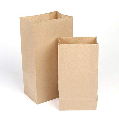LHWXSXL 100 LargeKraft papier Kruidenierstassen, vierkant brood toast burger zak, sundries papieren zak,11 * 6 * 4 inches