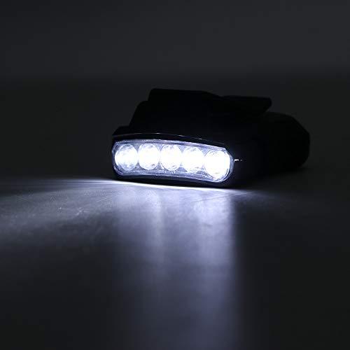 SanyaoDU Hoge prestaties 5 LED-kap-koplamp waterdichte koplamp LED-zaklamp koplamp licht voor vissen jacht
