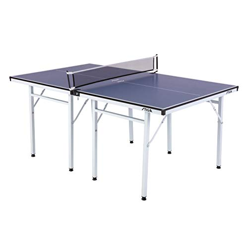 Read About STIGA Space Saver Compact Table Tennis Table for Authentic Play at Regulation Height with...