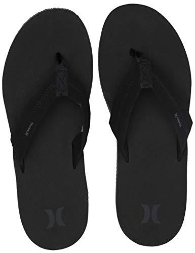 Hurley Men's Nike Lunarlon Lunar Flip Flop Sandal, Black Anthracite, 11 M US