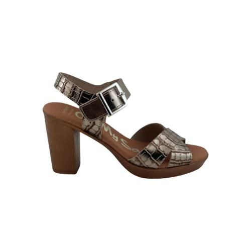 Sandalen mit natürlichem Absatz, doppelter Kreuzstreifen, Cava-Stil, Gold - Sekt - Größe: 41 EU