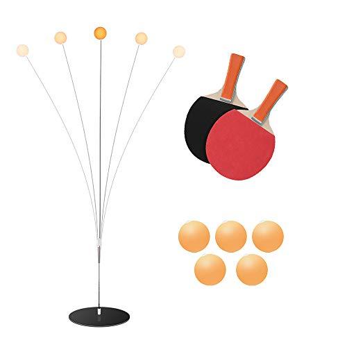Tischtennistrainer mit elastischem weichem Schaft 95-100 cm tragbares Dekompressionstischtennis-Trai Kacsoo