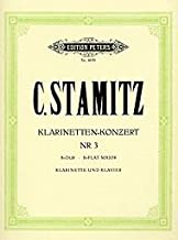 Clarinet Concerto No. 3 By C Stamitz. Edited By J. Wojciechowski. For Bb Clarinet and Piano. Classical Period. Difficulty: Medium. Set of Performance Parts (Includes Separate Pull-out Clarinet Part). Solo Part, Piano Reduction and Introductory Text.