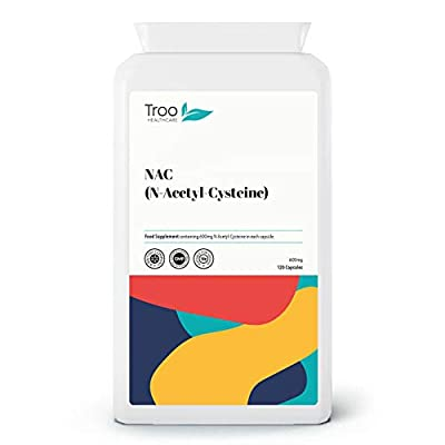 Troo NAC Supplement (600mg) - 120 Capsules | N-Acetyl-Cysteine Amino Acid – Stable Form of L-Cysteine | UK Manufactured to GMP Standards