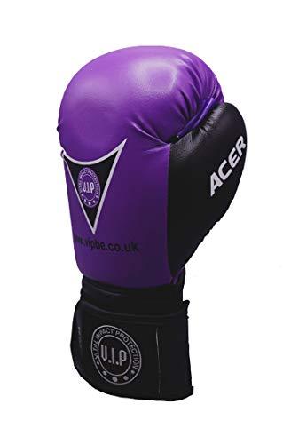 VIP Vital Impact Protection Acer PU Boxhandschuhe MMA Martial Arts Fitness Anfänger Training Handschuhe Fäustlinge, lila/schwarz, 10 oz