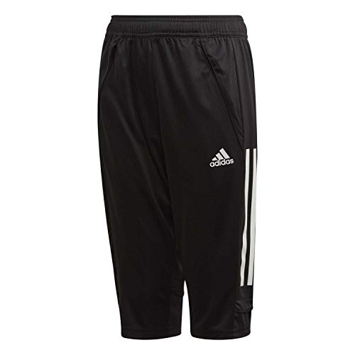 Adidas Con20 3/4 Pnt Y Shorts Unisex Kinderen, Zwart/Wit, 140