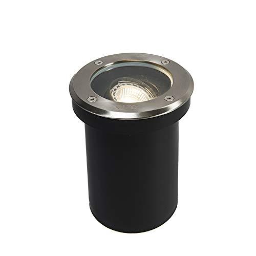 QAZQA delux - Faretto da incasso da terra Moderno - 5 luce - Ø 130 mm - Acciaio - Moderno - Illuminazione esterna