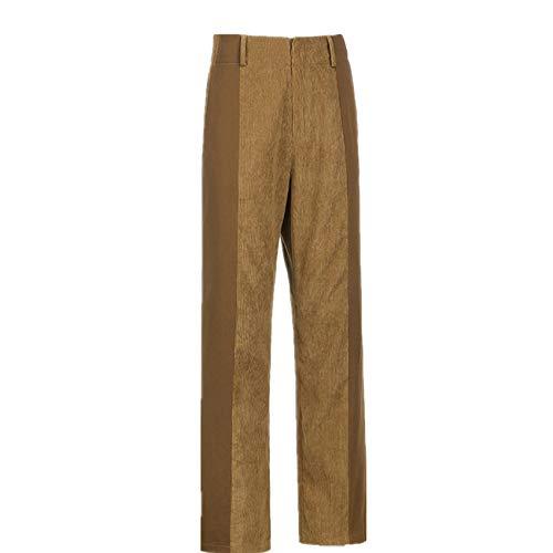 Pantalones De Pierna Recta De OtoñO/Invierno Pantalones Casuales De Pana De Color SóLido De Mujer Sexy Pantalones Casuales A Juego para Mujer