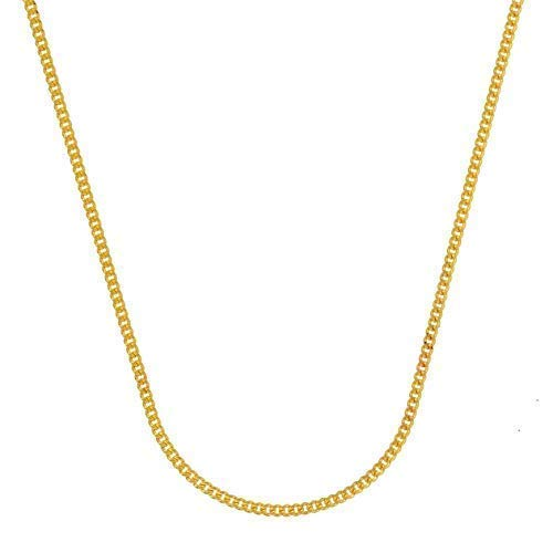 Holzenplotz Massive edle Goldkette Panzerkette Halskette Collier Echt 333 8K Gold 1,1 mm breit 70 cm