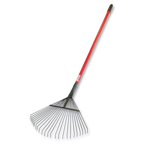 Bully Tools 92312 Leaf and Thatching Rake with Fiberglass Handle and 24 Spring Steel Tines