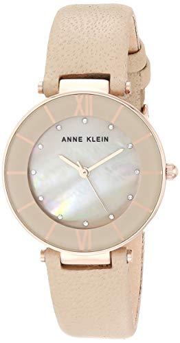 Anne Klein AK/3272 Reloj de pulsera de cuero con cristales S