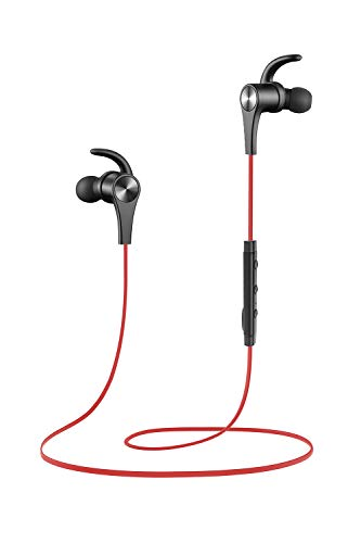 SoundPEATS Bluetooth Headphones in Ear Wireless Earbuds 4.1 Magnetic Sweatproof Stereo Bluetooth Earphones for Sports with Mic (RED)