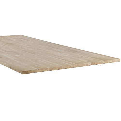 De Eekhoorn Tischplatte Tablo Eiche Massivholzplatte unbehandelt Esstischplatte Esstisch (180 x 90 cm)