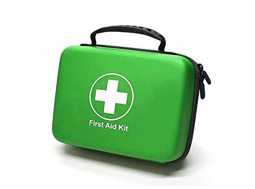 SHBC Kompaktes Erste-Hilfe-Set (228 Stück) Entwickelt für Familien-Notfälle. Wasserdichte EVA Case&Bag ist ideal für das Auto, Boot, Wandern, Reisen, Büro, Sport, Jagd. Beschütze deine Lieben, Grün