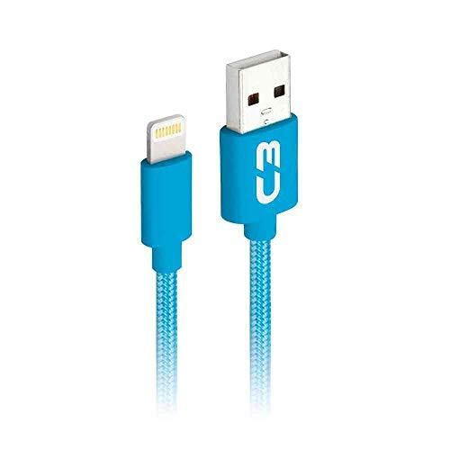 Cabo USB-Lightning C3Plus 1M CB-L11BL Azul - Compatível com IOS USB-Lightning Corrente 2A