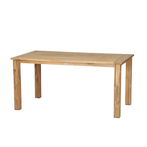 Siena Garden Dining Tisch Almada, 160x90x74cm, Gestell: Teakholz, in natur, Tischplatte: Teakholz, FSC 100%