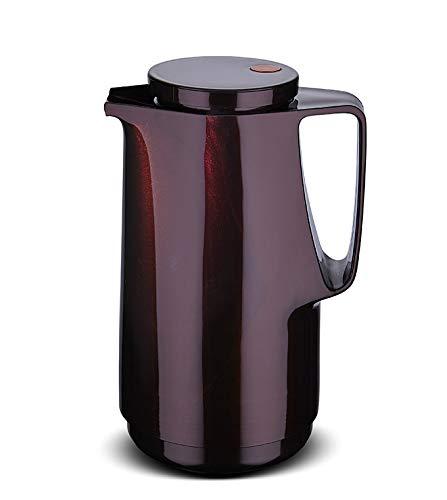 ROTPUNKT Isolierkanne 760 1,0 l (Black Cherry) | Doppelwandige Vakuumisolierung | Zweifunktions-Drehverschluss | BPA Frei- gesundes Trinken | Made in Germany | Warm + Kalthaltung | Glaseinsatz
