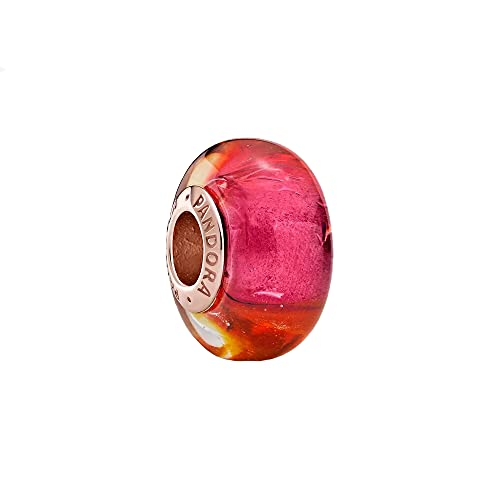 Pandora Sparkling Sunset Murano Glass Charm (Ring) Multicoloured with 14k Rose Gold Plated Alloy from Pandora Moments Collection