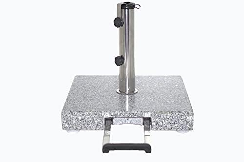 Vanage Sonnenschirmständer Granit mit Rollen und Teleskopgriff (28 kg)
