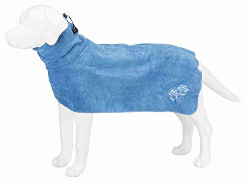 Trixie Bademantel/Hunde, Gr. L, Mikrofaser, 60 cm, blau - 2