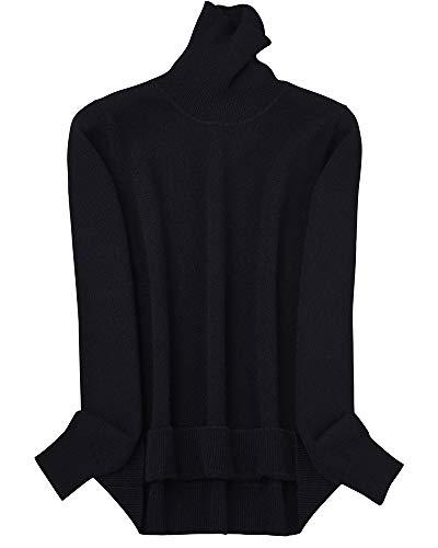 ZHILI dames Solid coltrui Slim Fit 100% Merino wollen trui (6 kleuren)