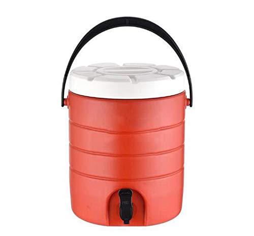LBJYDGE De Leche de Acero Inoxidable té Cuchara de Sopa de arroz Comercial Cubo Cubo Exterior Cubo de Hielo té con Leche y café Vino Zumo de Gran Capacidad de 16L y 21L (Color : Red, Size : 16L)