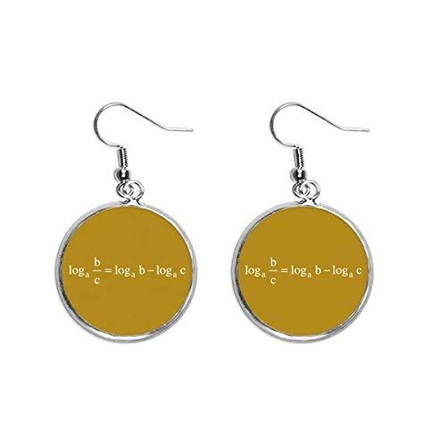 Pendientes colgantes de plata para mujer con fórmula matemática, expresiones de cálculos