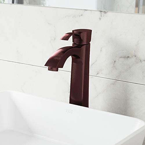 VIGO VG03023RB 12' H Otis Single Hole Single-Handle Vessel Deck-Mount WaterSense Bathroom Sink Faucet in Oil Rubbed Bronze