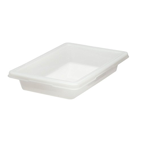 Rubbermaid Commercial Products Food Storage Box/Tote for Restaurant/Kitchen/Cafeteria, 5 Gallon, White (FG350600WHT)