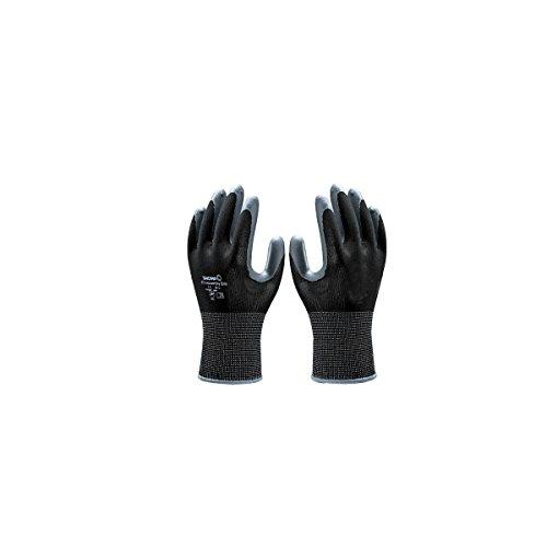 SHOWA 370, Revestimiento de Nitrilo, Uso general, Negro/gris oscuro, 9/XL