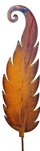 Blümelhuber Décoration de jardin en forme de fougère - En métal rouillé - 118 cm