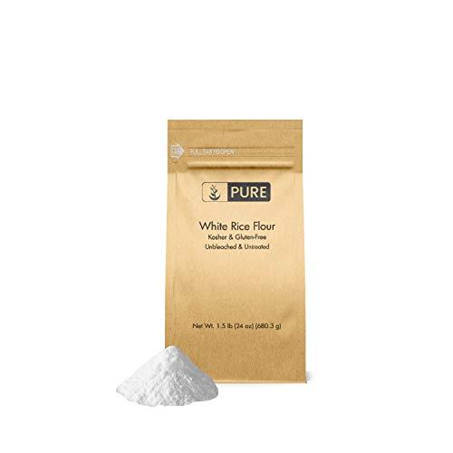 White Rice Flour (1.5 lb.), Gluten-Free, Fat-Free, Sodium-Free, Unbleached & Untreated, Vegan