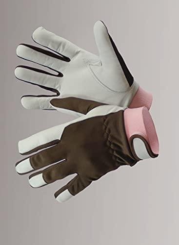 Brownie Gartenhandschuhe Damen / Herren - Arbeitshandschuhe Leder - Größe 8 - Nelson Garden Gartenzubehör - Arbeitsschutzhandschuhe