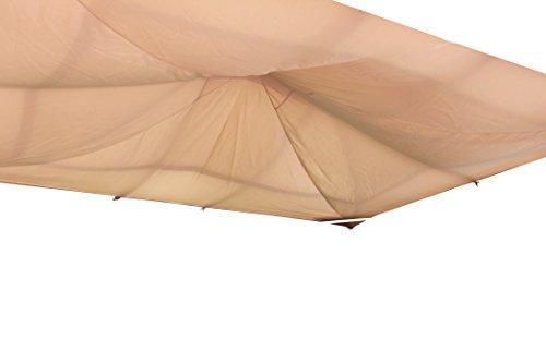 Leco Sonnenschutzsegel für Profi-Pavillon, natur, 300 x 365 x 1 cm, 13916103