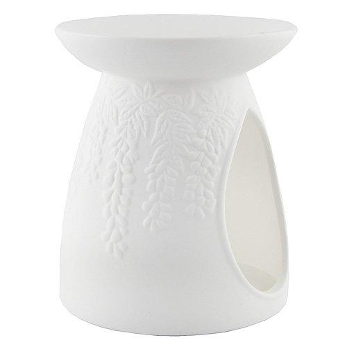 YANKEE CANDLE 1521530 Pastel Hue Bruciatore per Tart, Ceramica, Fiore del Vino, 11.4x11.3x12.9 cm