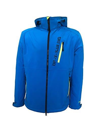 Dry Fashion Herren Softshelljacke Grömitz Übergangsjacke, Farbe:blau, Größe:XXL