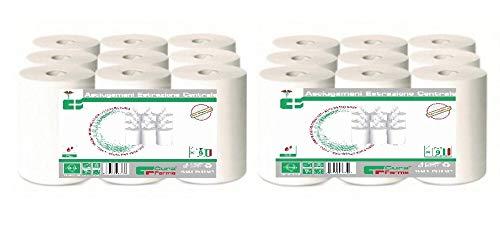 Asciugamani Di Carta 18 Pezzi - Rotoli Asciugamano Estrazione Centrale di Pura Cellulosa e Doppio Velo - Asciugatura Rapida - Qualità certificata e Rispetto per l'ambiente – Venduto da Cura Farma