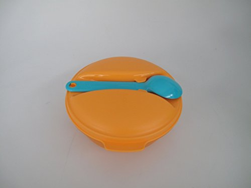 TUPPERWARE Snack&Go To Go A198 Soup&Go + Löffel Snack Obst 600ml orange türkis 11296