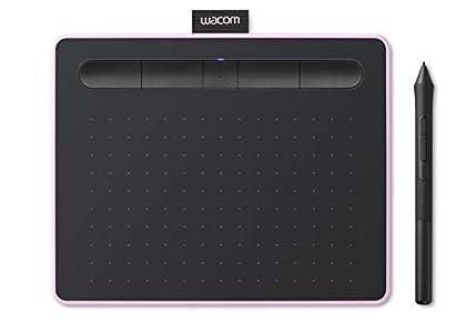 Wacom Intuos S con Bluetooth, tableta gráfica inalámbrica para pintar, esbozar y retocar fotografías con 5 versiones de software creativo para descargar, color rosa