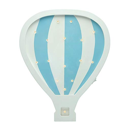 Pauleen Balloon Wandleuchte 48049 Lovely lamp Wandlampe Heißluftballon für Kinder LED Kinderzimmerlampe kabellos, mit Kippschalter, Holz, 0.4 W