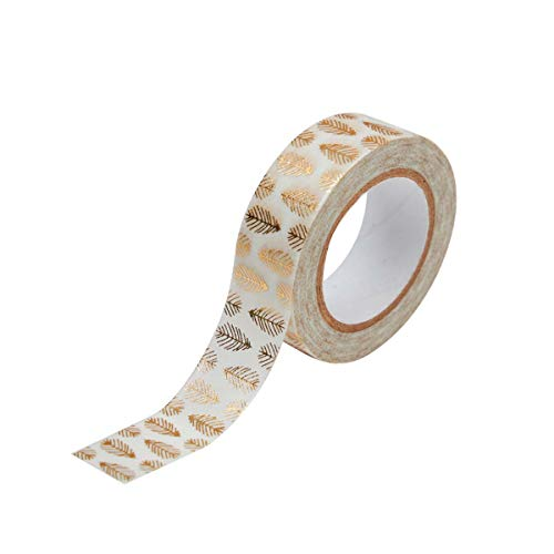 Toga Masking tape, Blanc et Or, Set de 10 Pièces