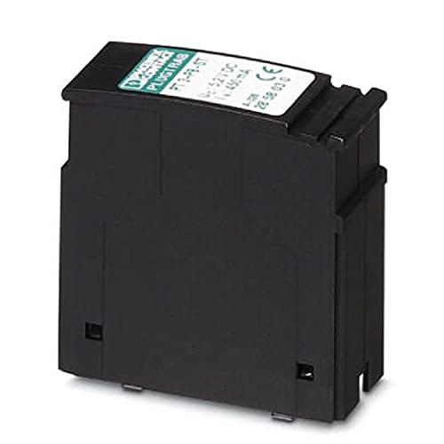 PHOENIX CONTACT PT 3-PB-ST Überspannungsschutzstecker für Basiselement, Querspannungsgrob und Feinschutz, Schwarz, 10 Stück