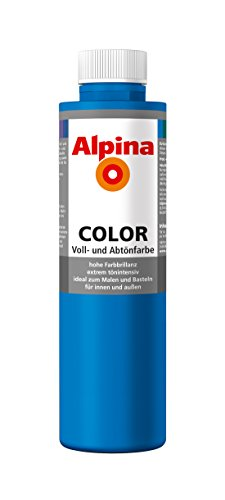 Alpina Farben Voll und Abtönfarbe Wandfarbe Alpina Color Farbton Royal Blue 750 ml